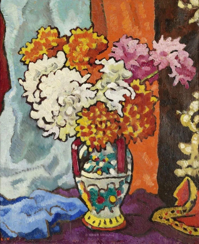 笔触粗犷,色彩令人陶醉,高清花卉作品插图56