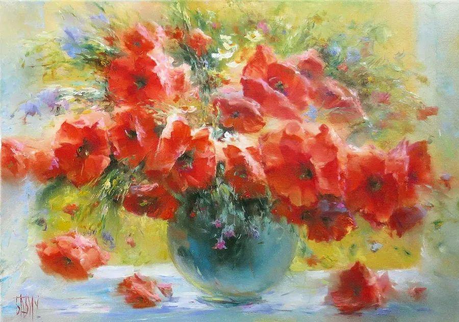 他绝对拥有绘画魔力,把花束画得如此之美插图109