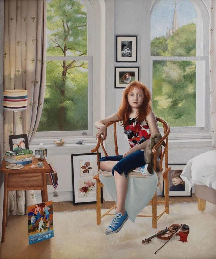 人物肖像与静物,英国女画家南希·弗莱彻插图1