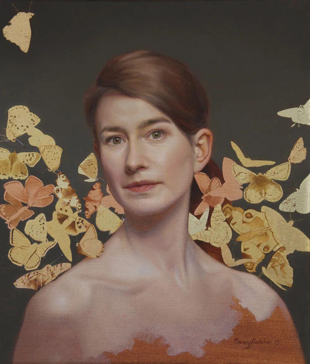 人物肖像与静物,英国女画家南希·弗莱彻插图11