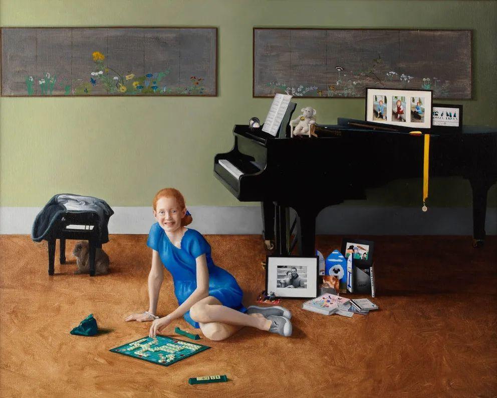 人物肖像与静物,英国女画家南希·弗莱彻插图27