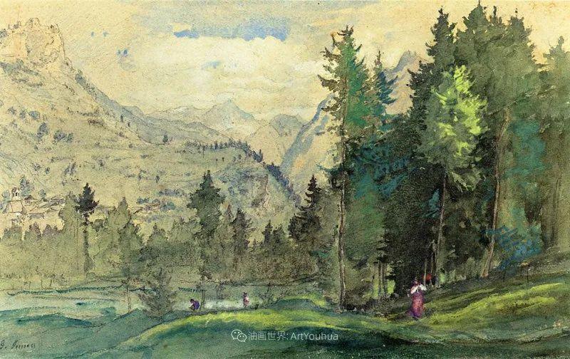 富有生气的风景画,美国新风景画派的先驱画家!插图53