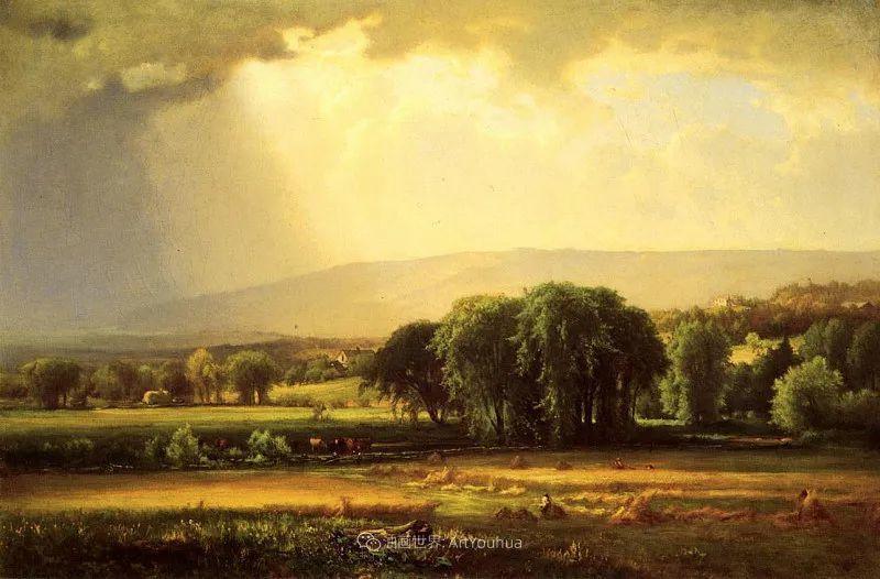 富有生气的风景画,美国新风景画派的先驱画家!插图87