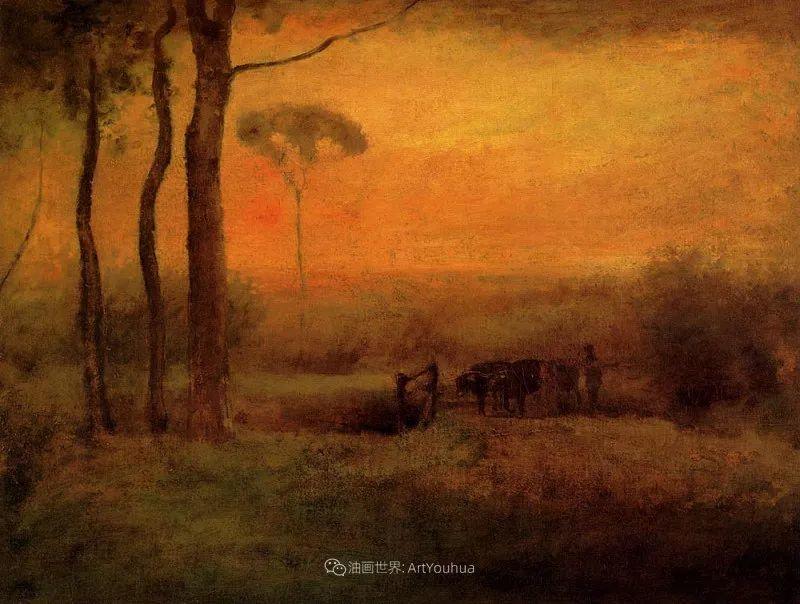 富有生气的风景画,美国新风景画派的先驱画家!插图95