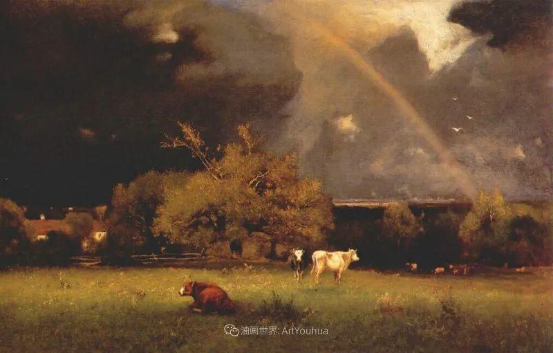 富有生气的风景画,美国新风景画派的先驱画家!插图115