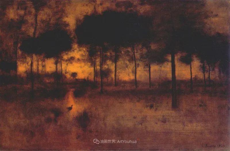 富有生气的风景画,美国新风景画派的先驱画家!插图149