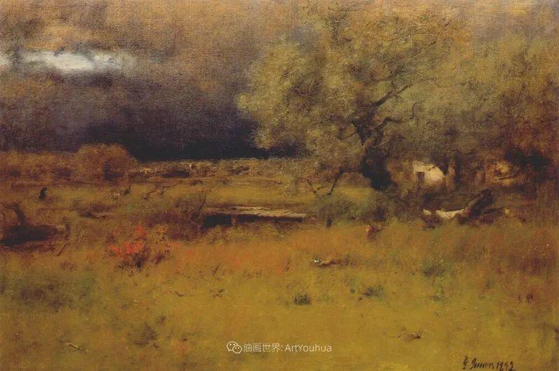 富有生气的风景画,美国新风景画派的先驱画家!插图153