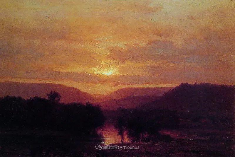 富有生气的风景画,美国新风景画派的先驱画家!插图157
