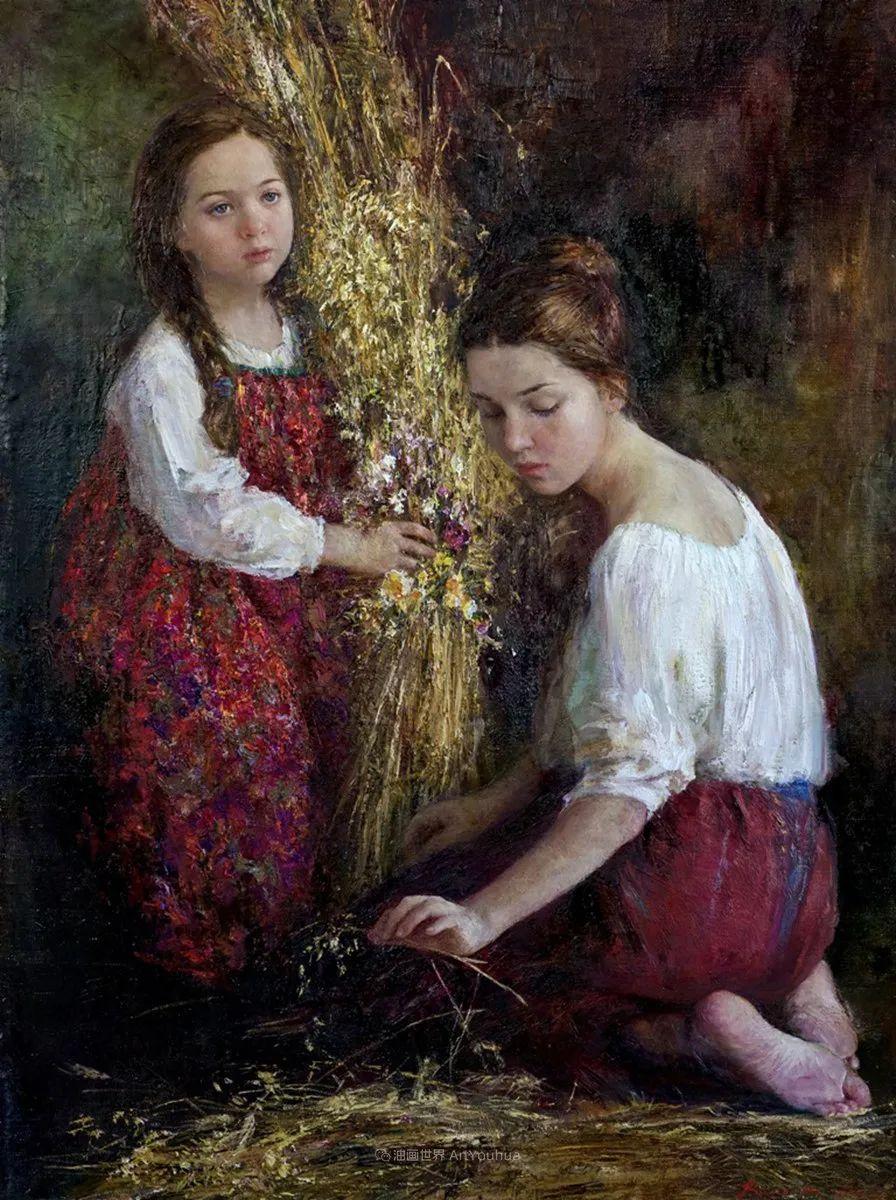 人物肖像,俄罗斯女画家安娜·维诺加拉多娃插图5