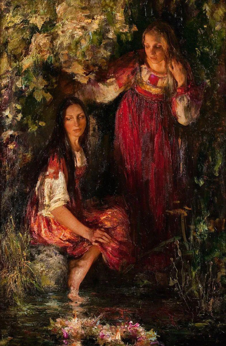 人物肖像,俄罗斯女画家安娜·维诺加拉多娃插图12