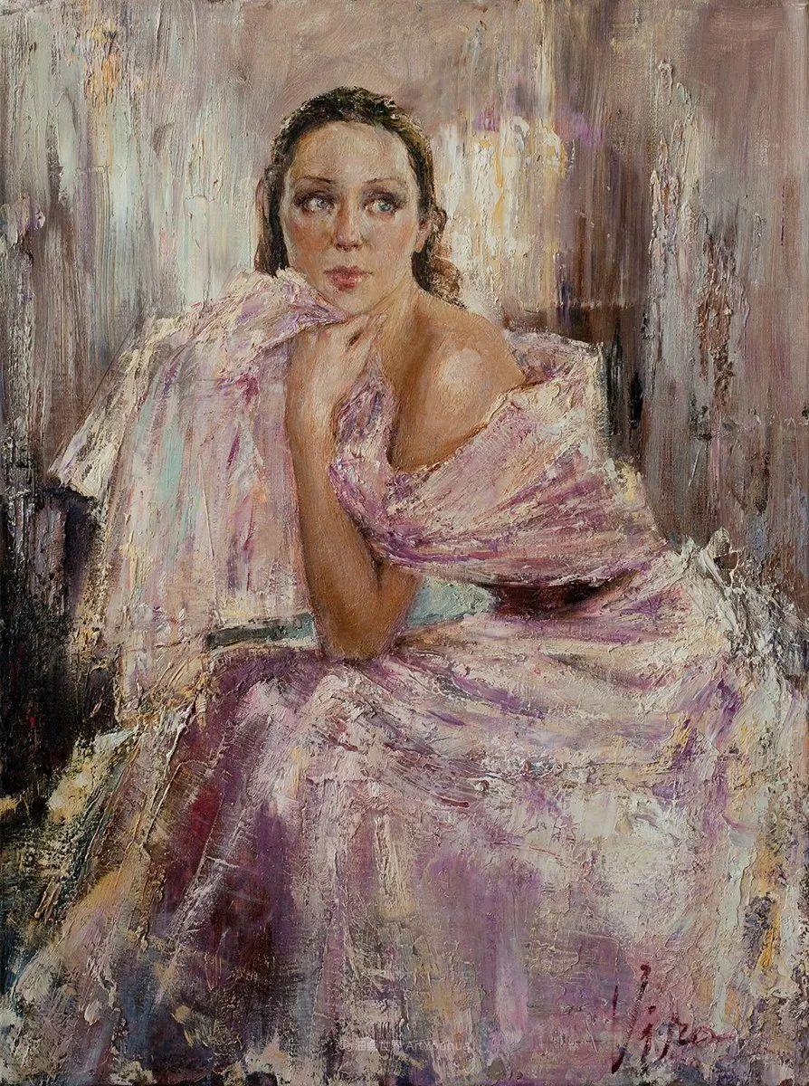 人物肖像,俄罗斯女画家安娜·维诺加拉多娃插图14
