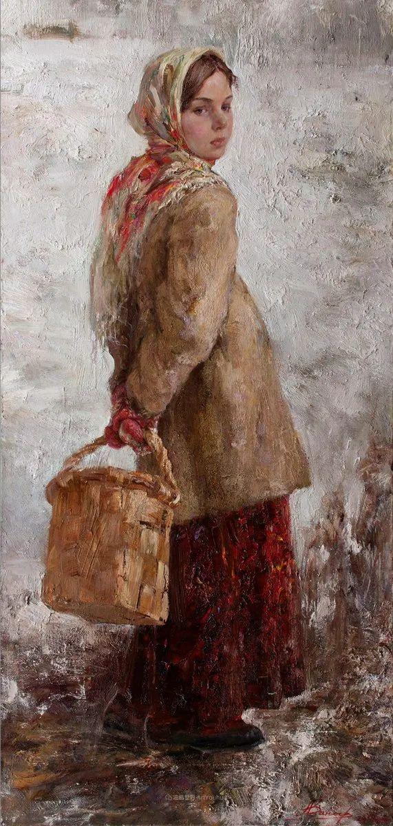 人物肖像,俄罗斯女画家安娜·维诺加拉多娃插图69