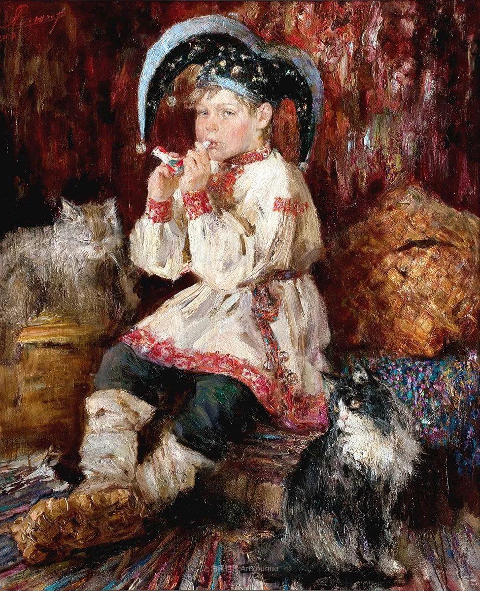 人物肖像,俄罗斯女画家安娜·维诺加拉多娃插图80