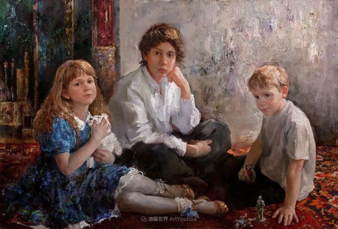 人物肖像,俄罗斯女画家安娜·维诺加拉多娃插图82