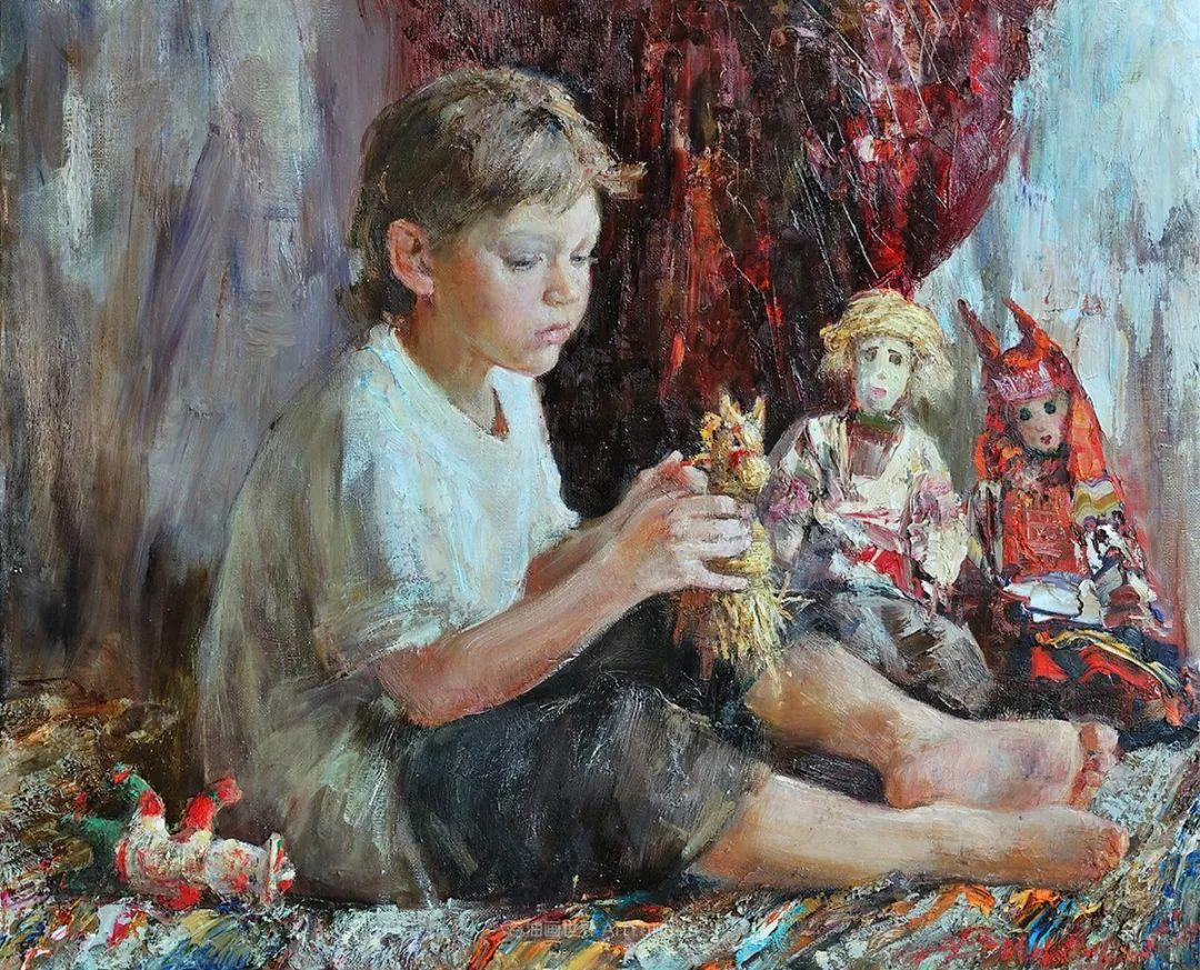 人物肖像,俄罗斯女画家安娜·维诺加拉多娃插图86