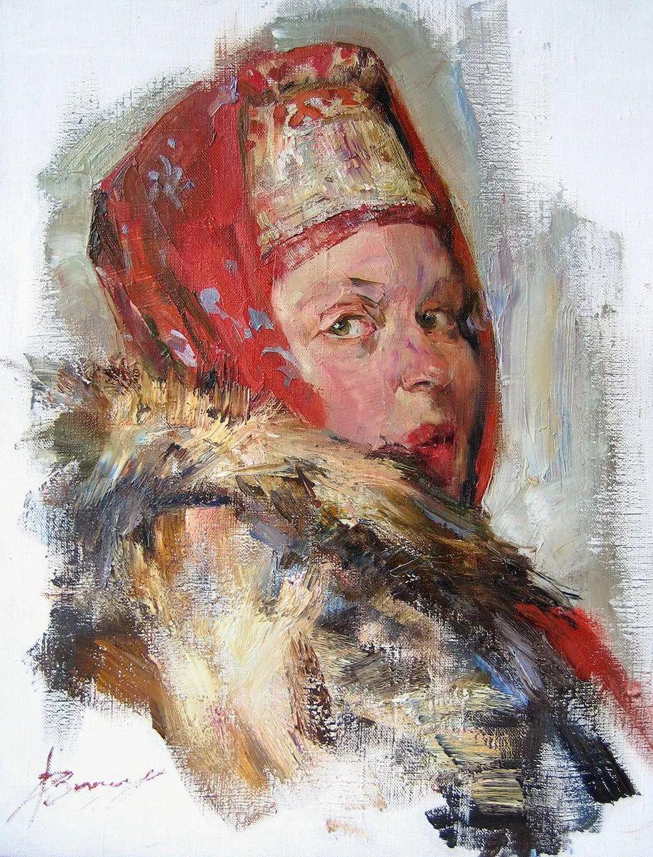 人物肖像,俄罗斯女画家安娜·维诺加拉多娃插图96
