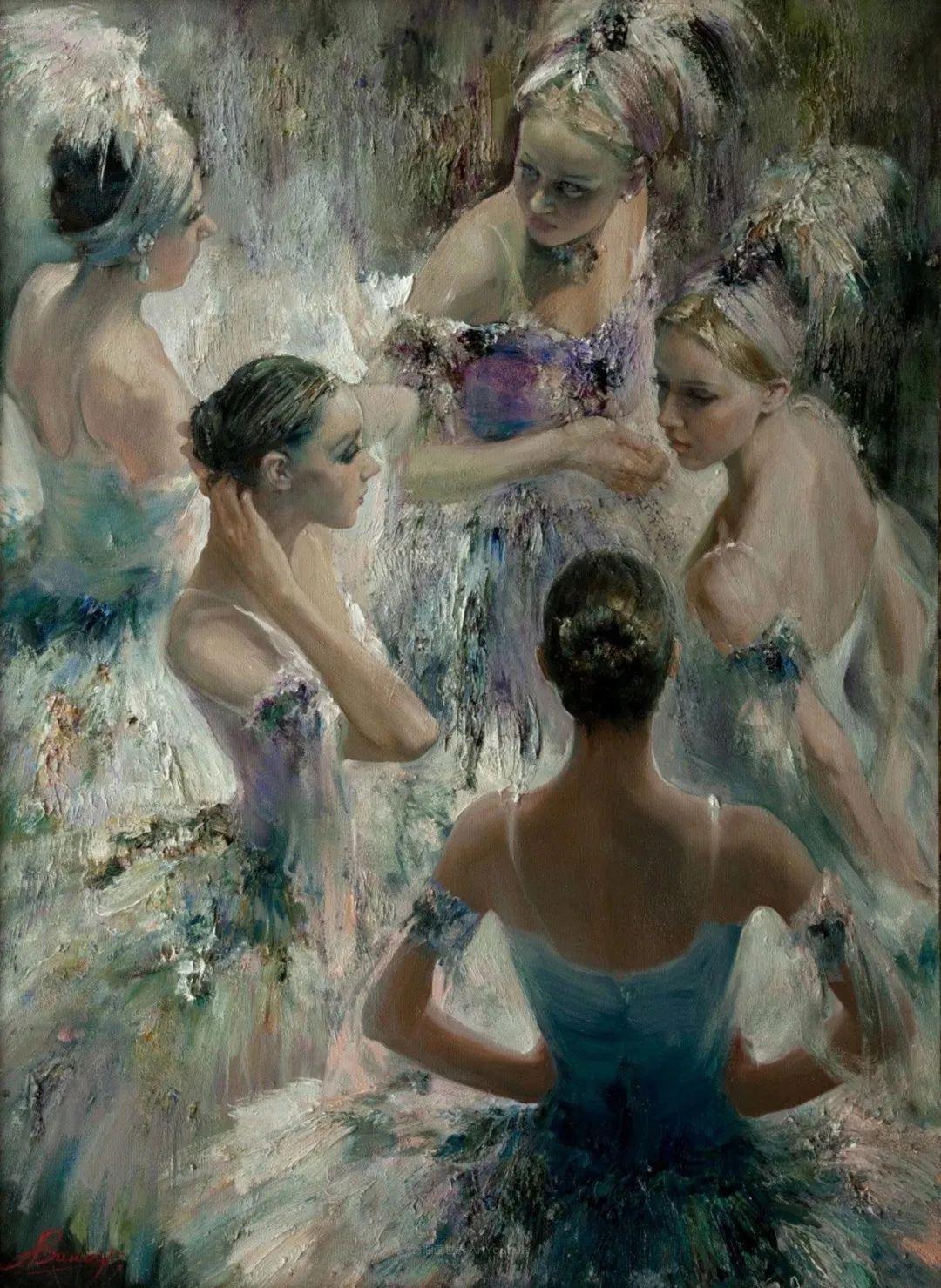 芭蕾舞蹈,俄罗斯女画家安娜·维诺加拉多娃插图23