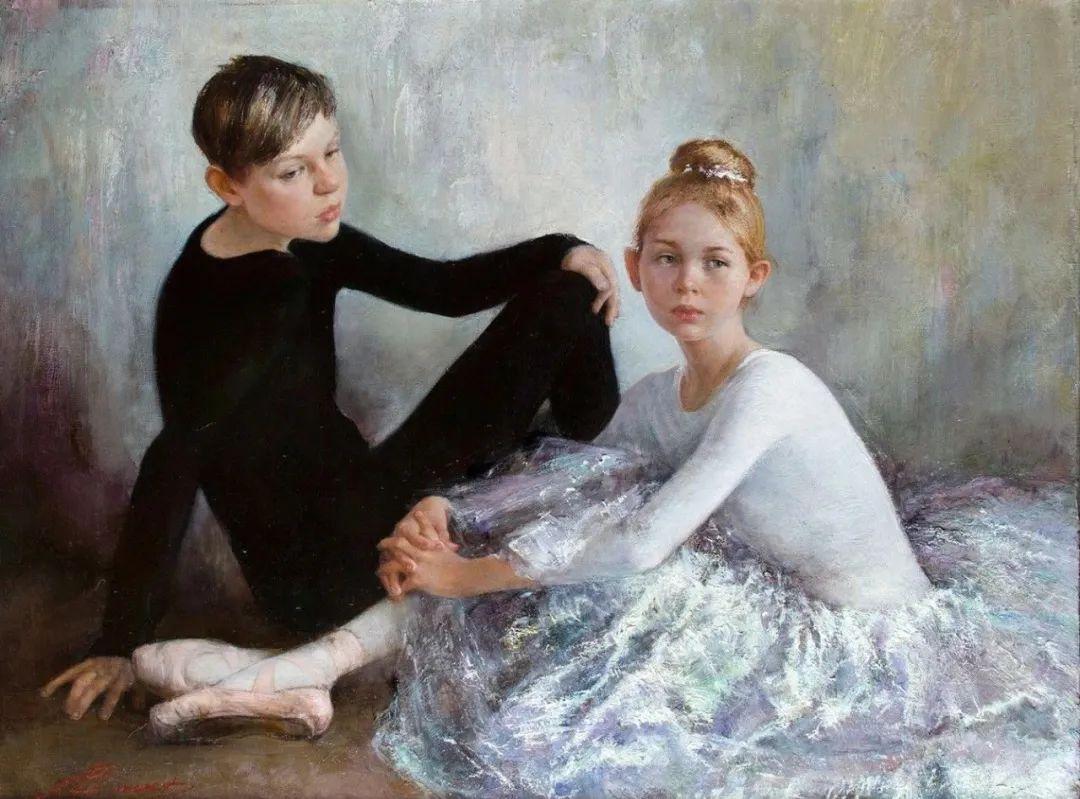 芭蕾舞蹈,俄罗斯女画家安娜·维诺加拉多娃插图25