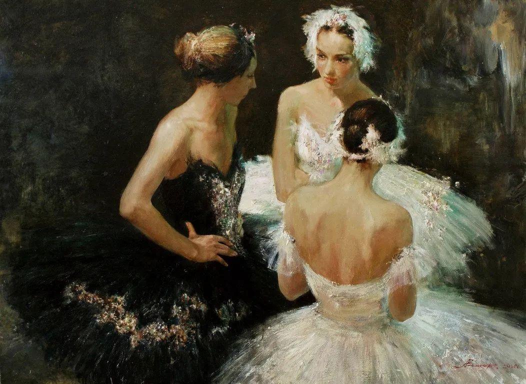 芭蕾舞蹈,俄罗斯女画家安娜·维诺加拉多娃插图39
