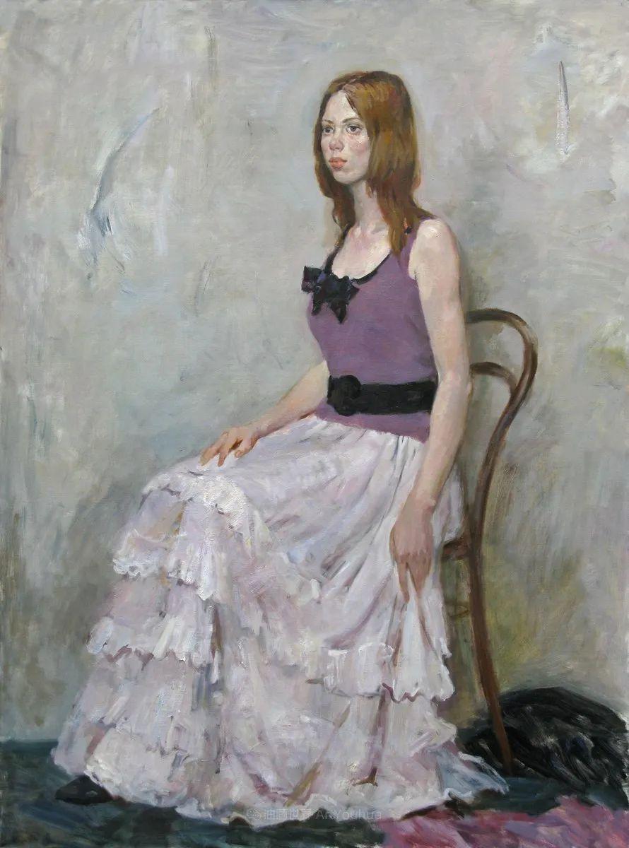 花卉与人物肖像,俄罗斯女画家安娜·玛丽诺娃插图43