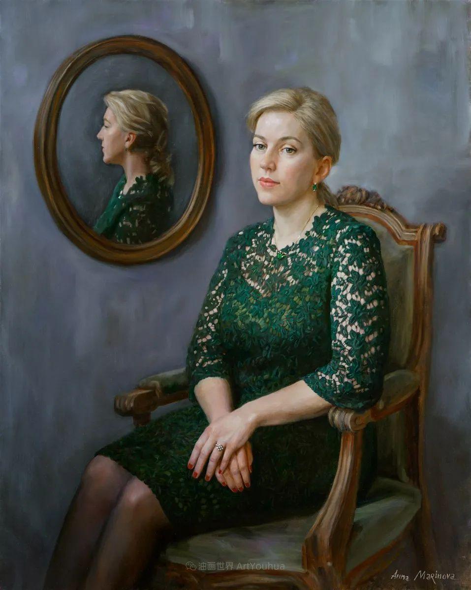 花卉与人物肖像,俄罗斯女画家安娜·玛丽诺娃插图49