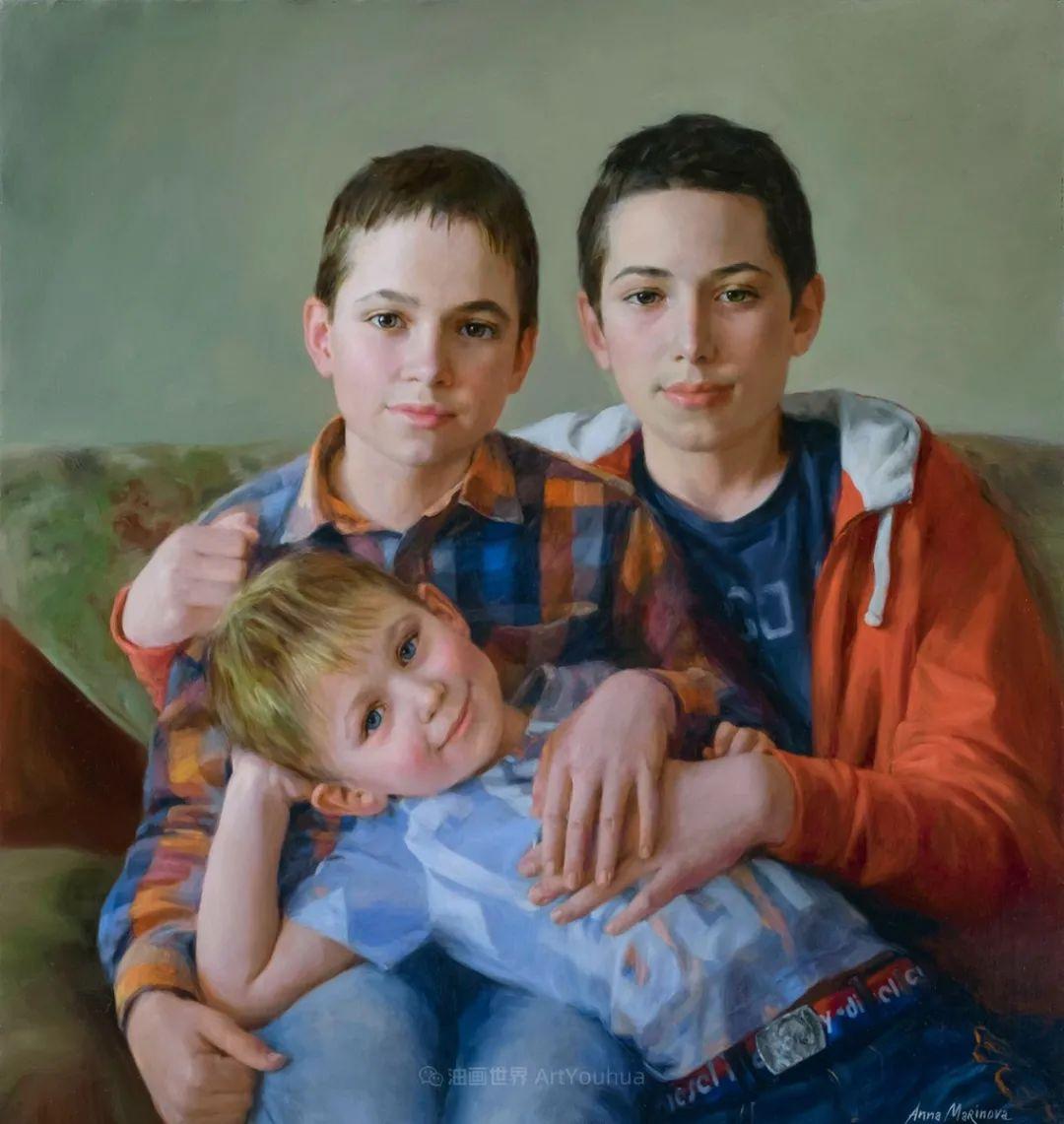 花卉与人物肖像,俄罗斯女画家安娜·玛丽诺娃插图63