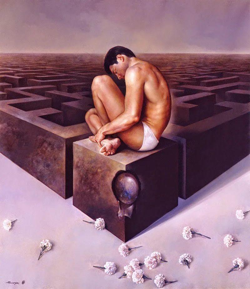 西班牙超现实主义画家阿尔贝托·潘科博插图79