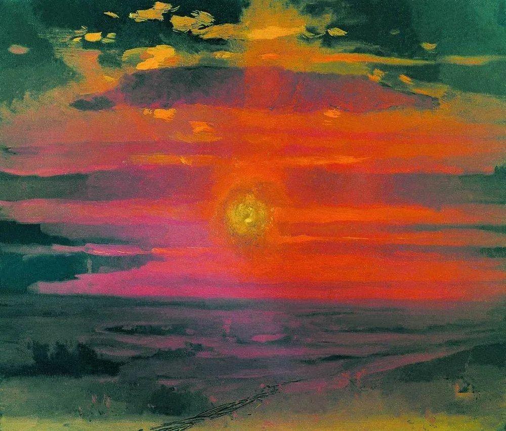 """列宾称他为""""善于表现诗意光辉的艺术大师"""",库因芝作品164幅插图47"""