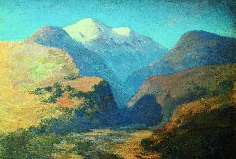 """列宾称他为""""善于表现诗意光辉的艺术大师"""",库因芝作品164幅插图57"""