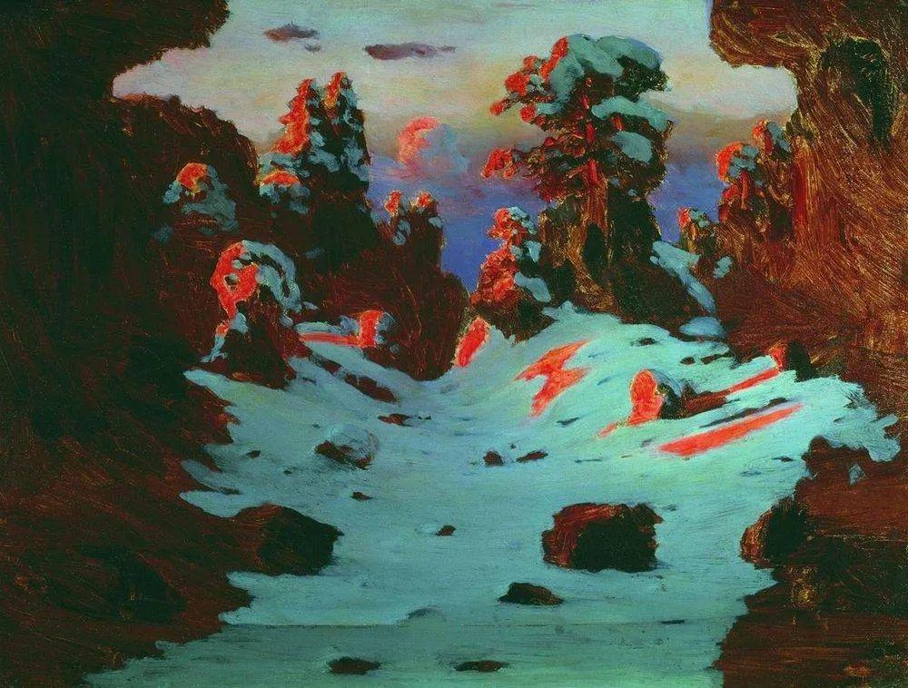 """列宾称他为""""善于表现诗意光辉的艺术大师"""",库因芝作品164幅插图65"""