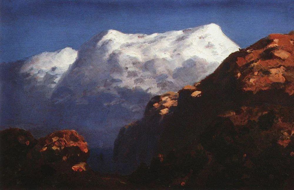 """列宾称他为""""善于表现诗意光辉的艺术大师"""",库因芝作品164幅插图67"""