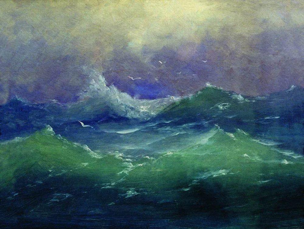 """列宾称他为""""善于表现诗意光辉的艺术大师"""",库因芝作品164幅插图79"""