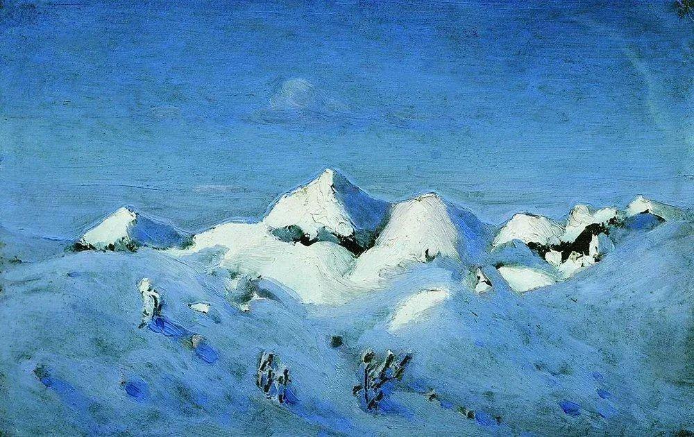 """列宾称他为""""善于表现诗意光辉的艺术大师"""",库因芝作品164幅插图81"""