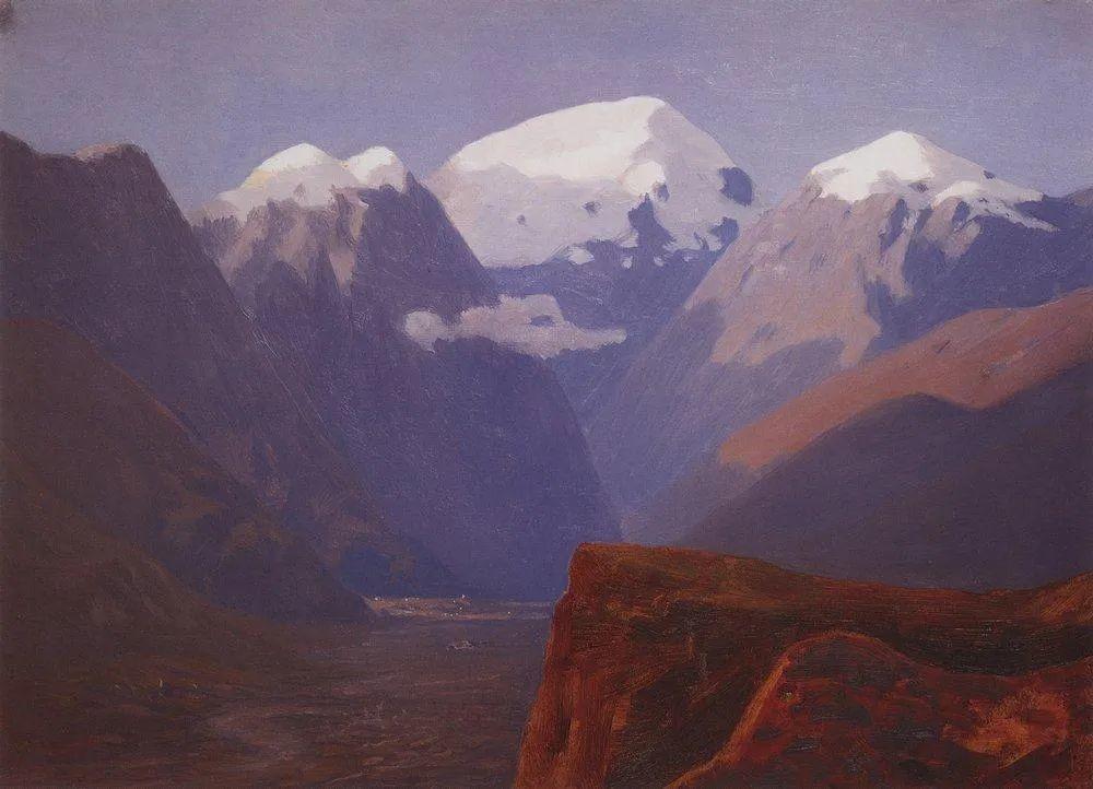 """列宾称他为""""善于表现诗意光辉的艺术大师"""",库因芝作品164幅插图91"""
