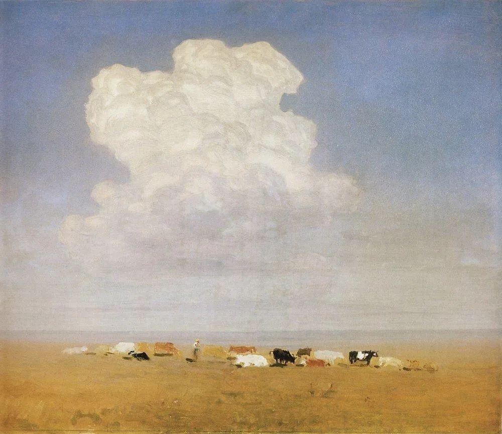 """列宾称他为""""善于表现诗意光辉的艺术大师"""",库因芝作品164幅插图97"""