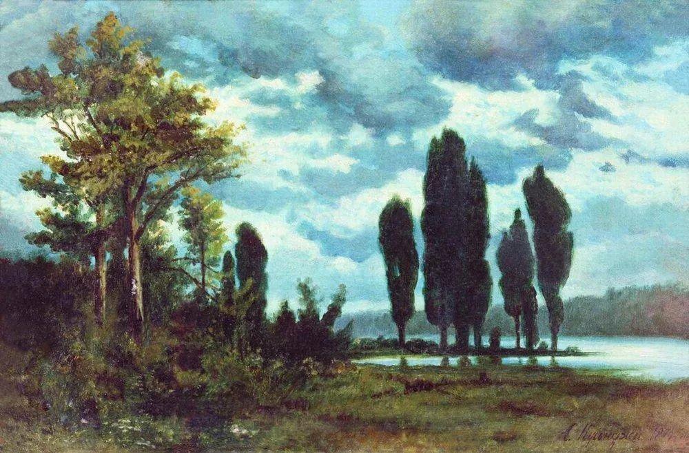 """列宾称他为""""善于表现诗意光辉的艺术大师"""",库因芝作品164幅插图105"""