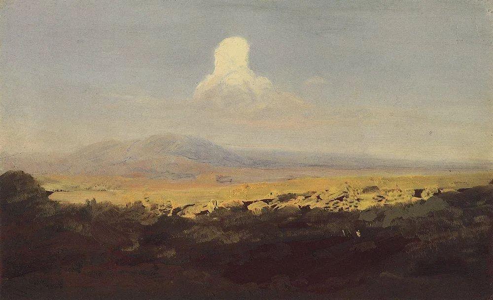 """列宾称他为""""善于表现诗意光辉的艺术大师"""",库因芝作品164幅插图115"""