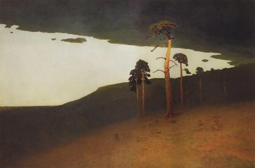 """列宾称他为""""善于表现诗意光辉的艺术大师"""",库因芝作品164幅插图137"""