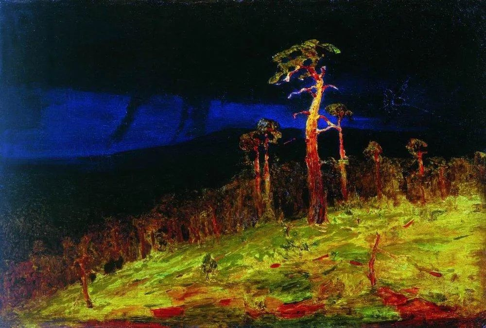 """列宾称他为""""善于表现诗意光辉的艺术大师"""",库因芝作品164幅插图139"""