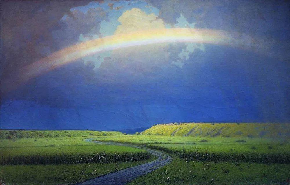 """列宾称他为""""善于表现诗意光辉的艺术大师"""",库因芝作品164幅插图143"""