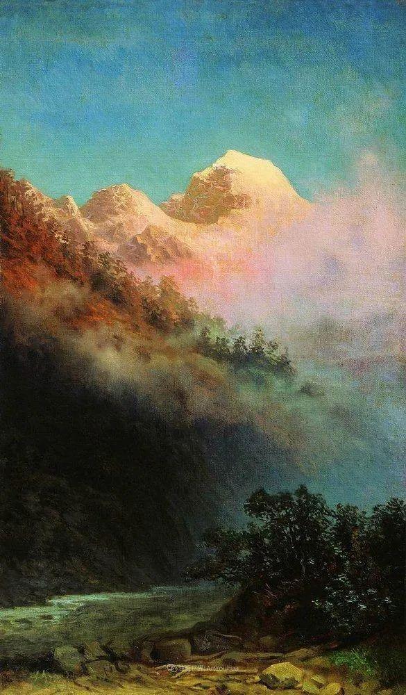 """列宾称他为""""善于表现诗意光辉的艺术大师"""",库因芝作品164幅插图145"""