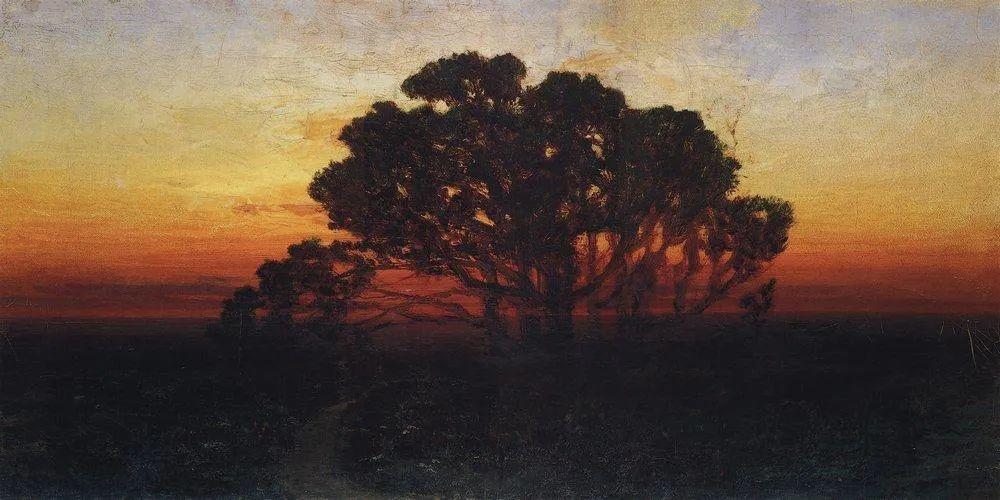 """列宾称他为""""善于表现诗意光辉的艺术大师"""",库因芝作品164幅插图149"""