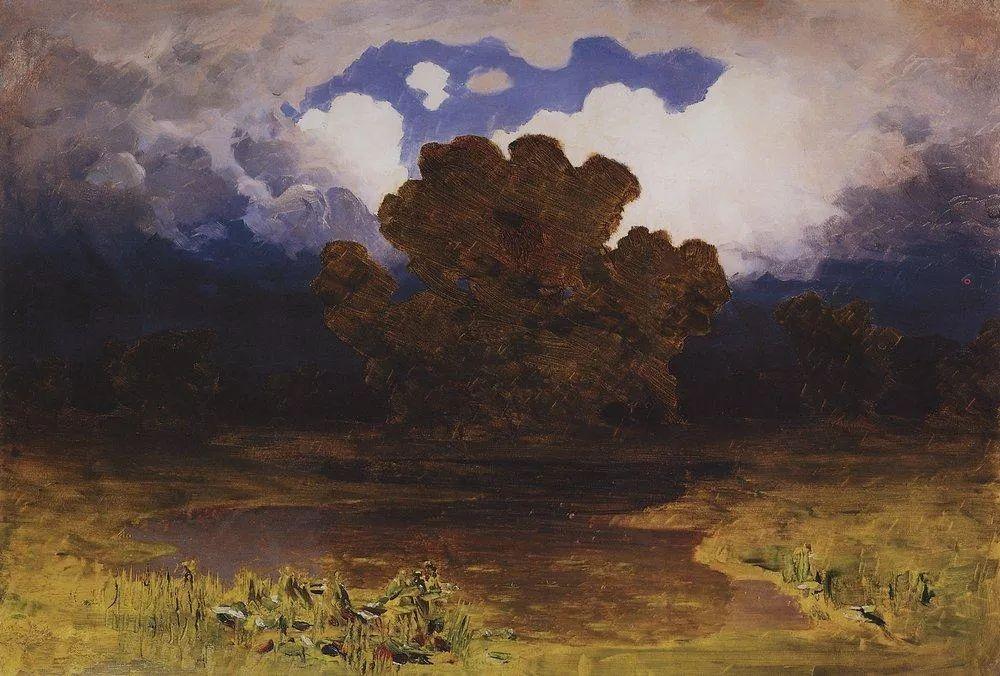 """列宾称他为""""善于表现诗意光辉的艺术大师"""",库因芝作品164幅插图151"""