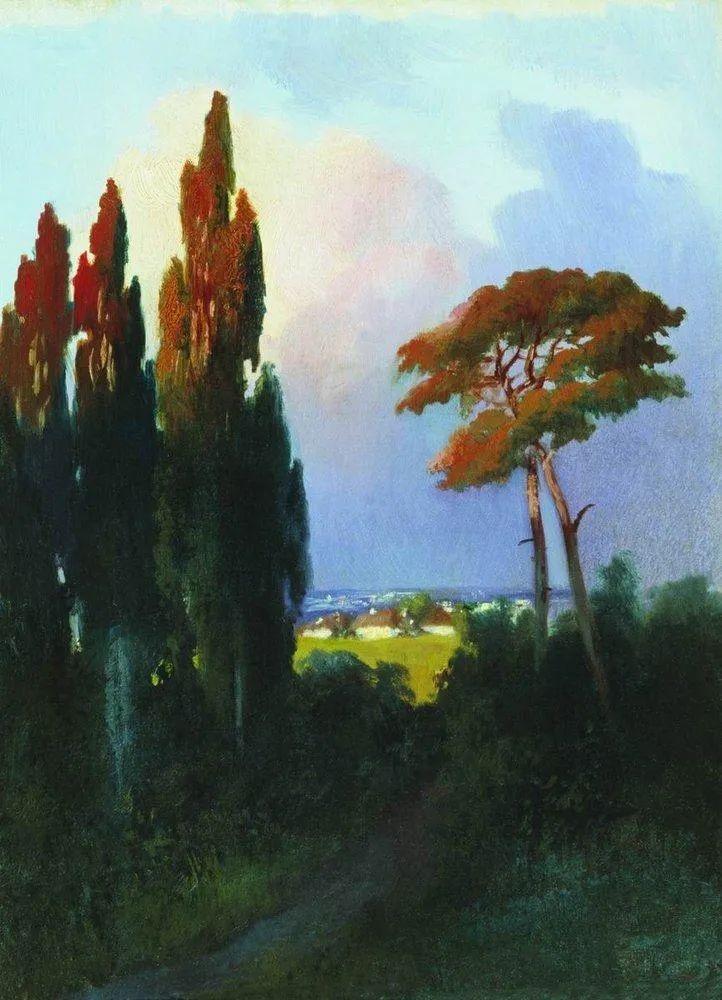 """列宾称他为""""善于表现诗意光辉的艺术大师"""",库因芝作品164幅插图185"""