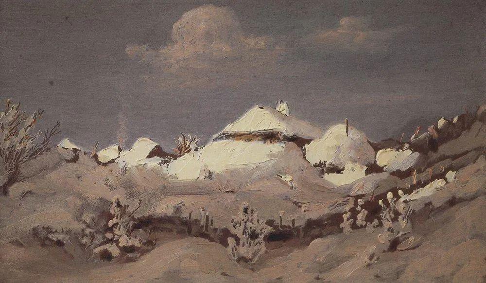 """列宾称他为""""善于表现诗意光辉的艺术大师"""",库因芝作品164幅插图253"""