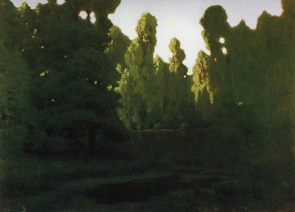 """列宾称他为""""善于表现诗意光辉的艺术大师"""",库因芝作品164幅插图299"""