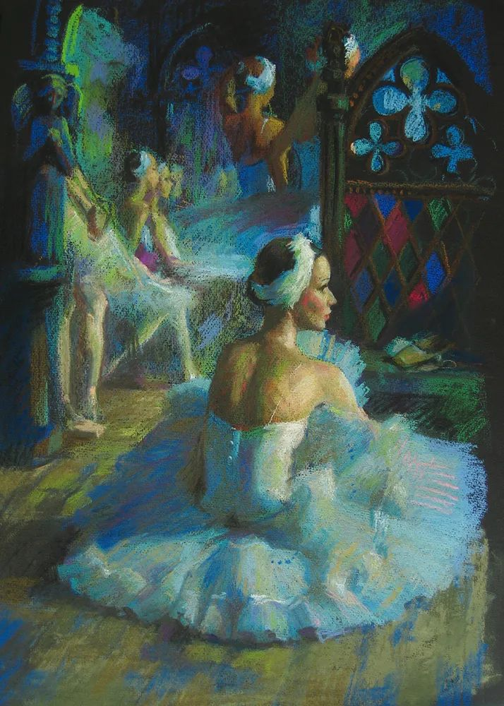 她的色粉芭蕾,舞姿律动,身姿瘦削!插图1