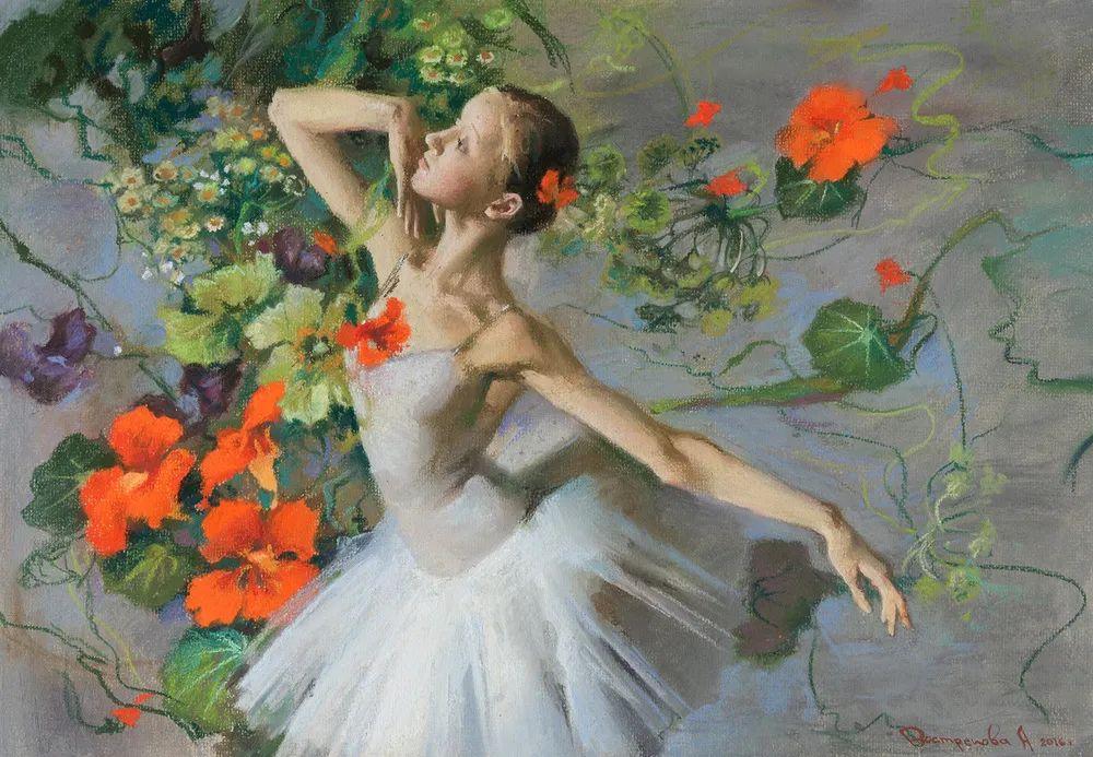 她的色粉芭蕾,舞姿律动,身姿瘦削!插图3