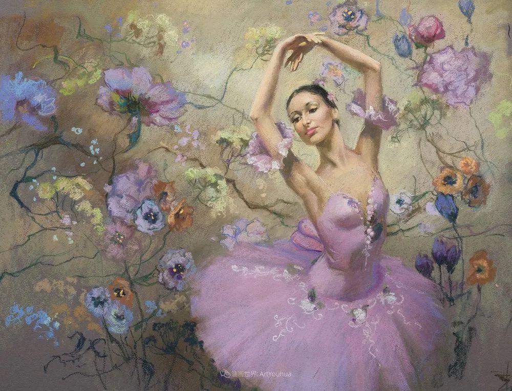 她的色粉芭蕾,舞姿律动,身姿瘦削!插图9