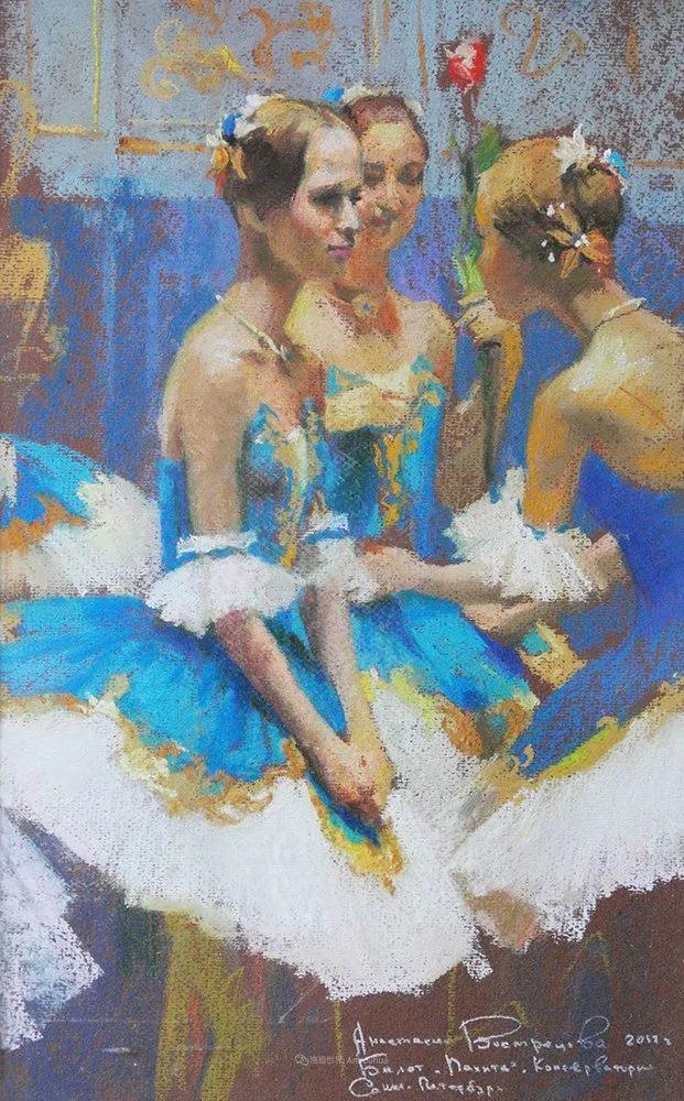 她的色粉芭蕾,舞姿律动,身姿瘦削!插图35